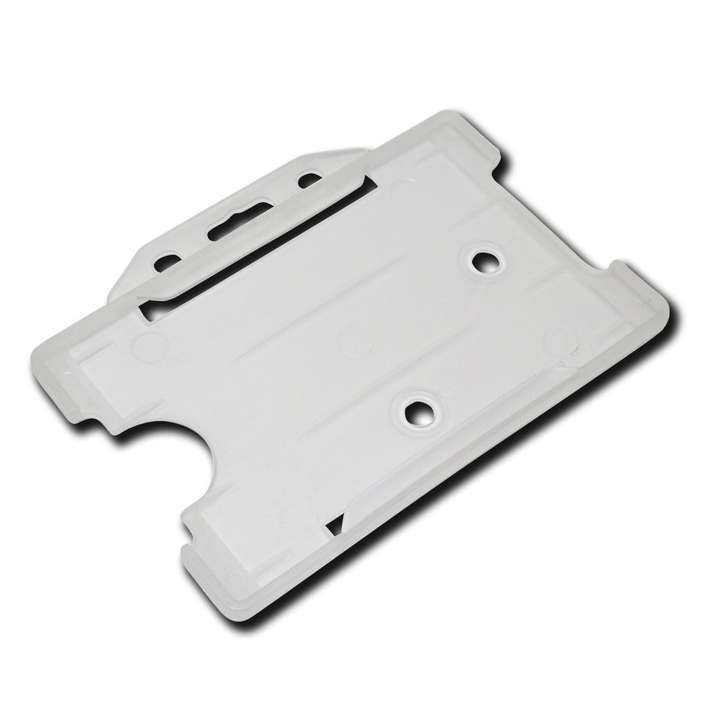 Clear Fosted open faced rigid card holder - landscape