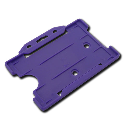 Purple open faced rigid card holder - landscape