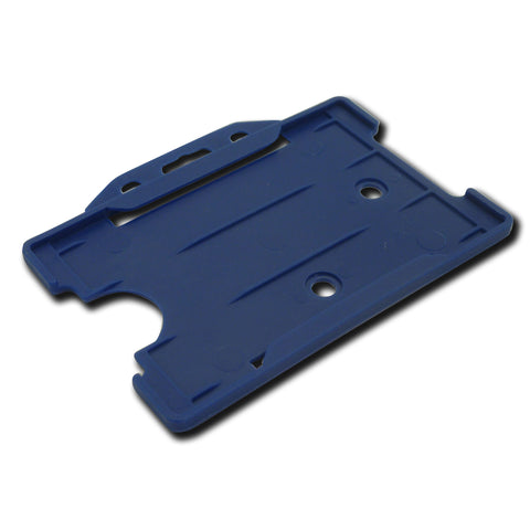 Mid Blue open faced rigid card holder - landscape