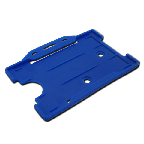 Sky Blue open faced rigid card holder - landscape