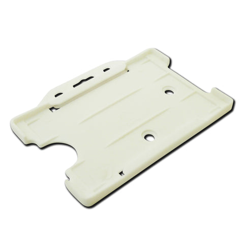 White open faced rigid card holder - landscape
