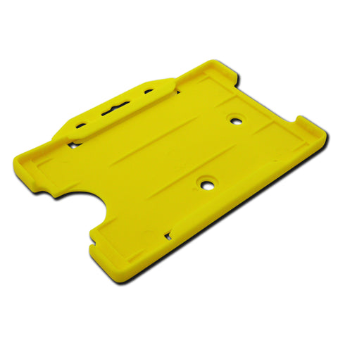 Yellow open faced rigid card holder - landscape