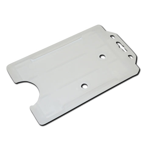 Clear Frosted Rigid Card Holder Open-Face Portrait