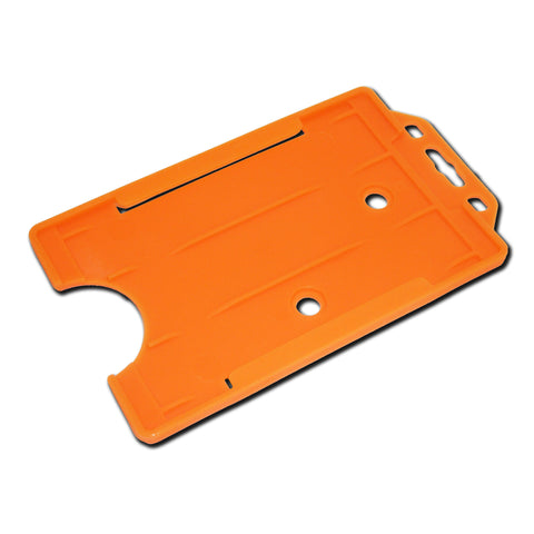 Orange Rigid Card Holder Open-Face Portrait