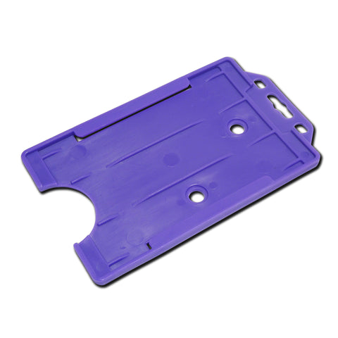Purple Rigid Card Holder Open-Face Portrait