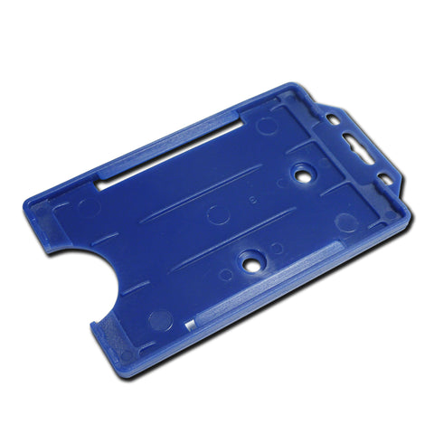 Mid Blue Rigid Card Holder Open-Face Portrait