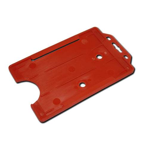 Red Rigid Card Holder Open-Face Portrait