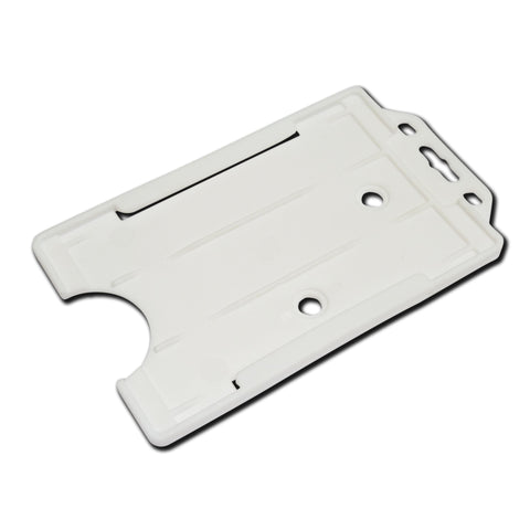 White Rigid Card Holder Open-Face Portrait