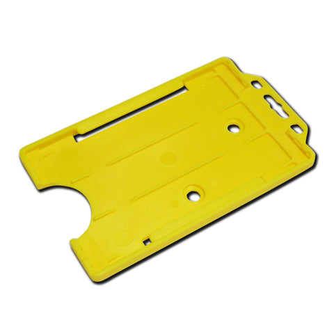 Yellow Rigid Card Holder Open-Face Portrait