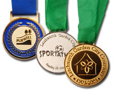 Custom designed medals of superb quality.