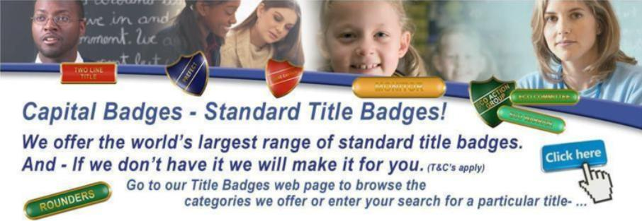 Capital Badges Title Badges