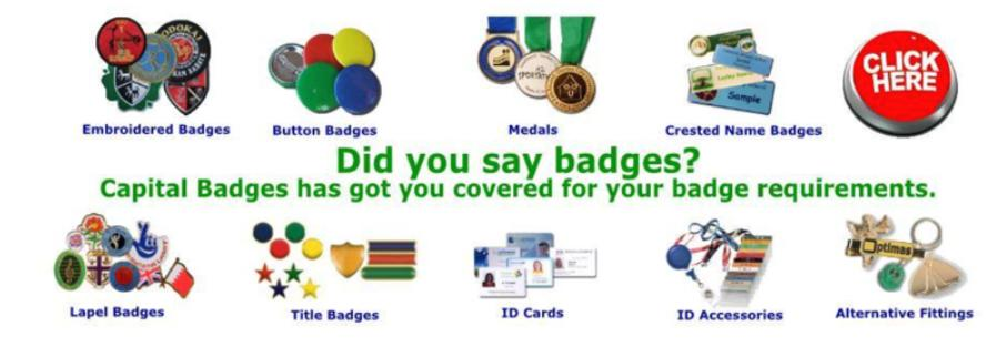 Capital Badges Product Range