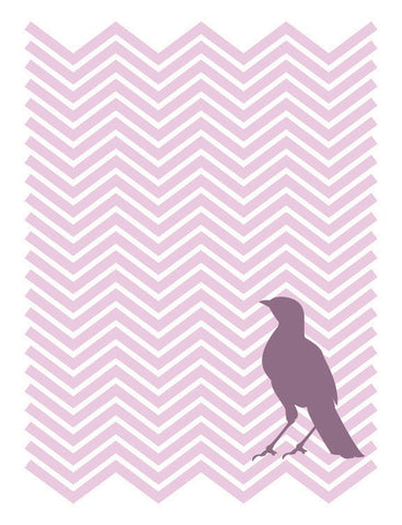 Chevron Bird Plum