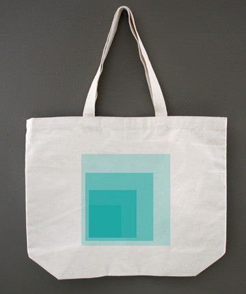 Colorblock Blue Tote