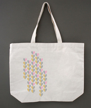 Colorblock Hearts Tote