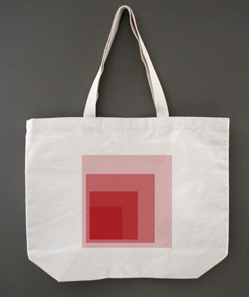 Colorblock Red Tote