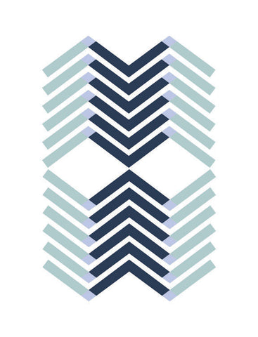 Layered Chevron Navy
