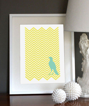 Chevron Bird Lemon