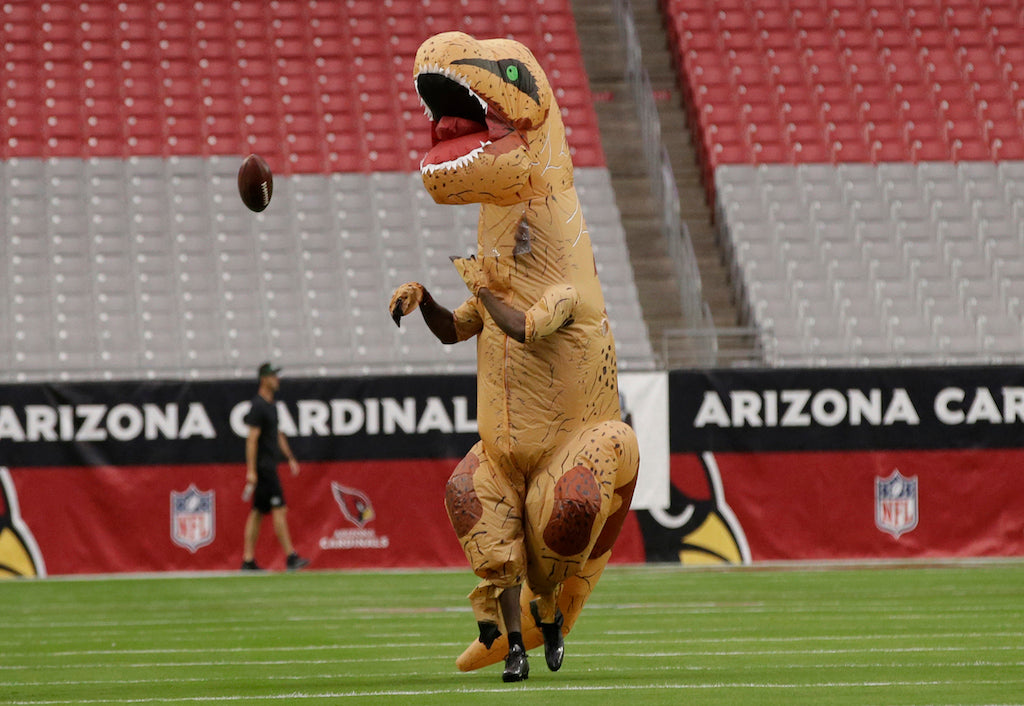 Patrick Peterson preps for game in dinosaur costume | Patrick Peterson