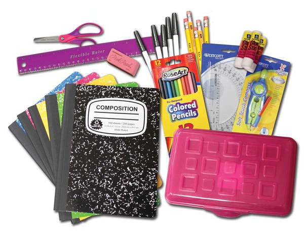 School Supplies for a Child (with card)