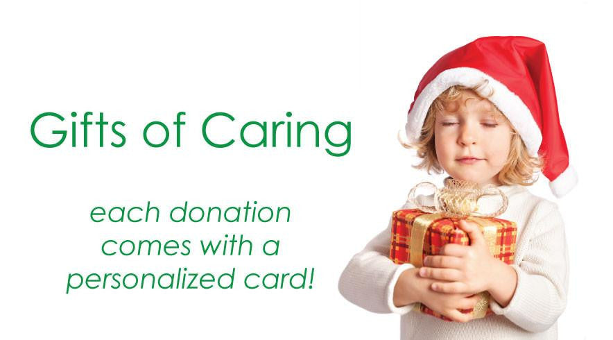 Donation gifts of caring make the perfect gift!