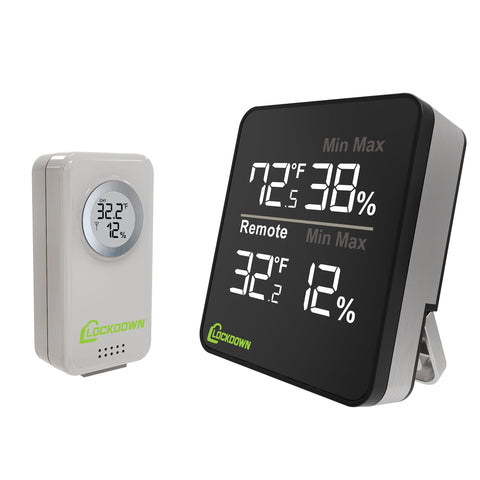 Lockdown Wireless Digital Hygrometer