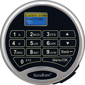 SecuRam - ProLogic - L02 - Electronic Keypad (KEYPAD ONLY)