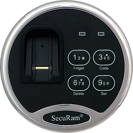 SecuRam - ScanLogic - Swipe - Electronic Keypad with Biometric Scanner (KEYPAD ONLY)