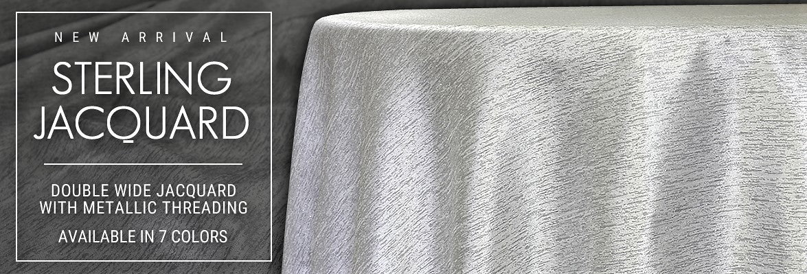 Sterling Jacquard Tablecloths, Table Linens, Overlays, and More
