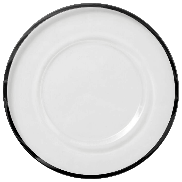 Klasik - Glass Charger Plate in Black