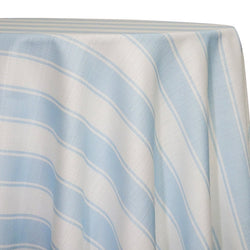 Cabana Stripe Table Linen in Blue