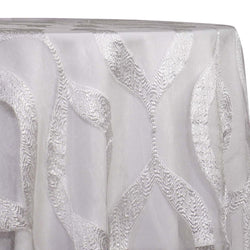 Tabriz Organza Table Linen in White