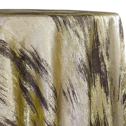 Static Jacquard Table Linen in Gold and Brown