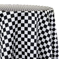 "Lamour Prints Table Linen in 1""x1"" Checker"
