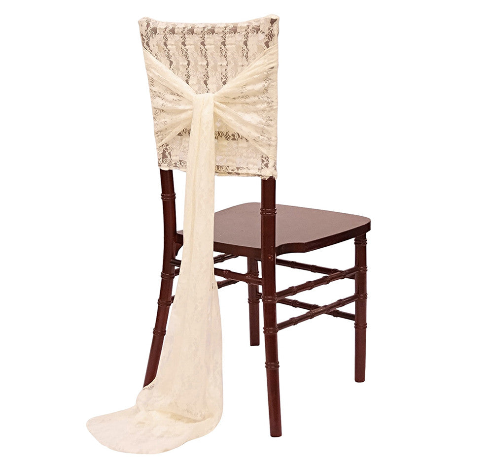 Lace Chair Cap and Sash