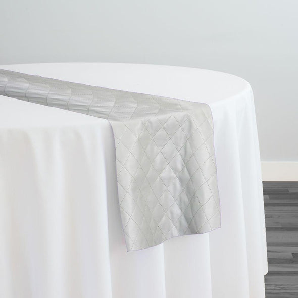 Murano Quilt Table Runner in Silver