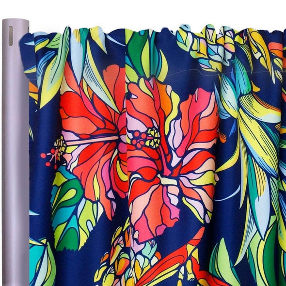"Tropical Funk (Poly Print) Drapery Panels (58"" Wide)"