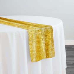 String Metallic Table Runner in Gold
