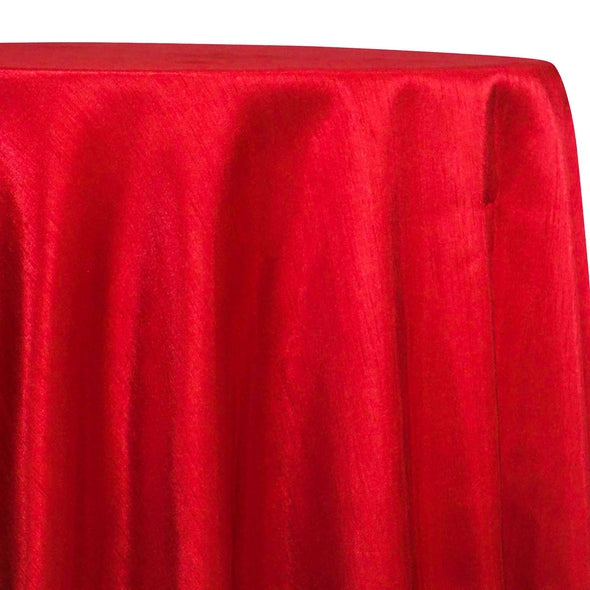Shantung Satin (Reversible) Table Linen in Red