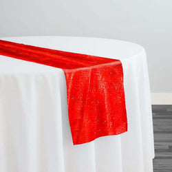 String Metallic Table Runner in Red