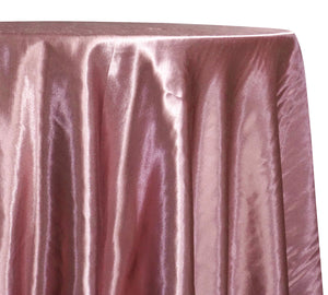 Shantung Satin (Reversible) Table Linen in Dusty Rose