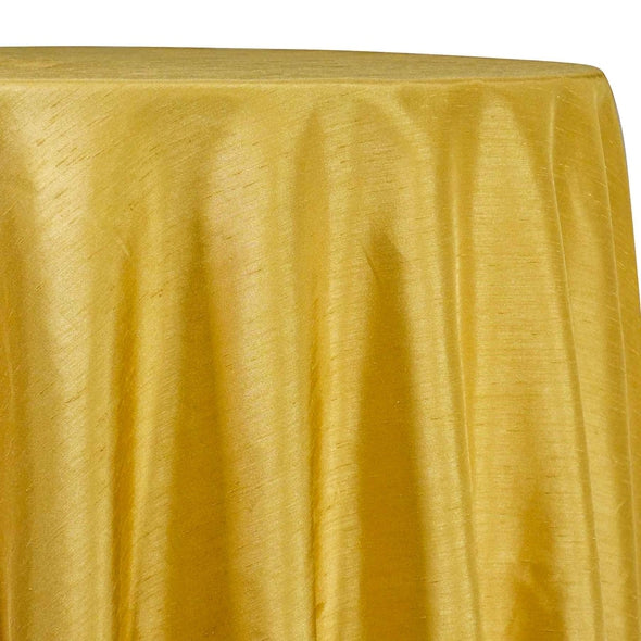 Shantung Satin (Reversible) Table Linen in Yellow