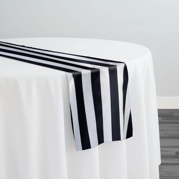 "Lamour 1"" & 4"" Stripe Table Runner in 1"" Stripe"