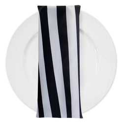 "Lamour Print Table Napkins in 1"" Stripe"