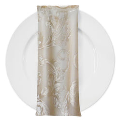 Florence Jacquard Table Napkin in Gold