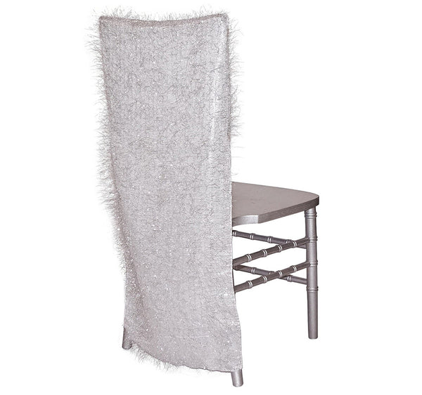 String Metallic Chair Back - Silver