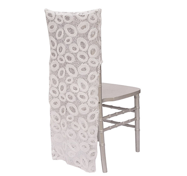 Sienna Sequins Chair Back - Silver/White