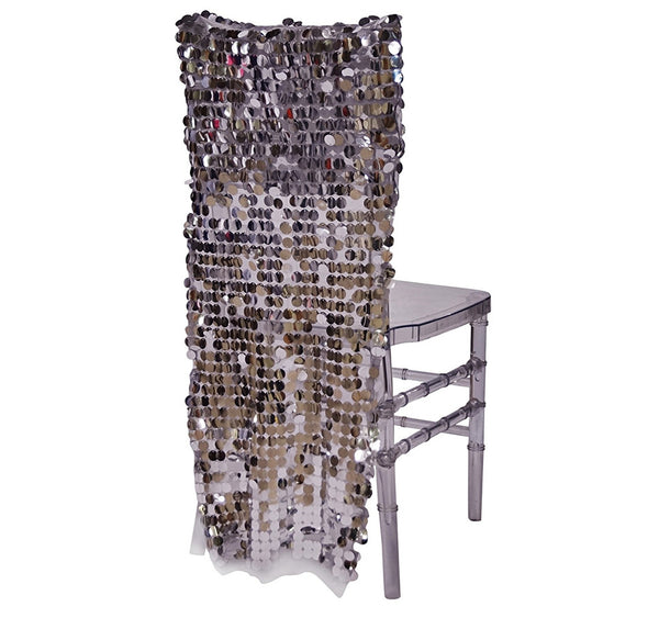 Payette Sequins Chair Back In Silver