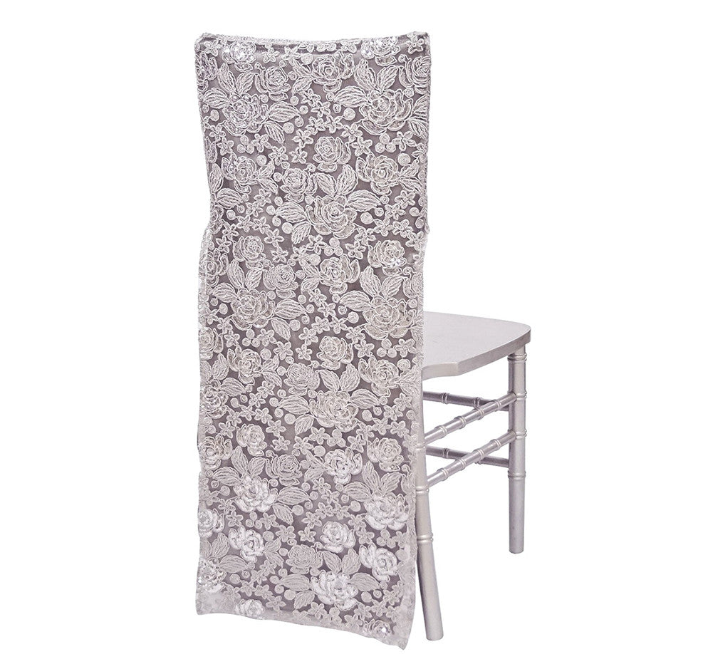 Valentina Lace Full Chair Back - White