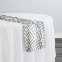 Paragon Print (Lamour) Table Runner in Silver